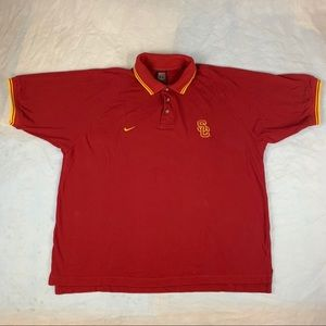 XL Nike Team USC Trojans Polo Short Sleeve Shirt